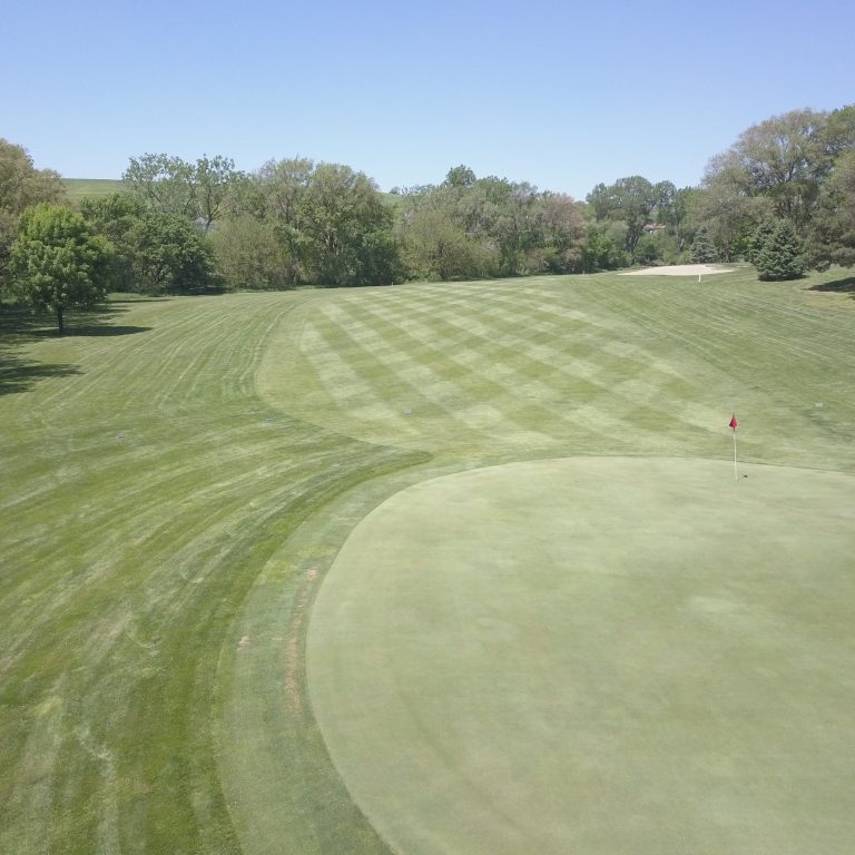Arial View of Deer Run Golf Course, Hinton, IA