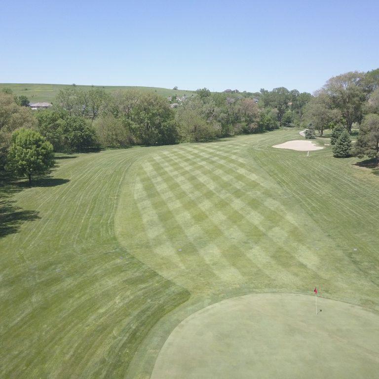 Arial View of Deer Run Golf Course, Hinton, IA